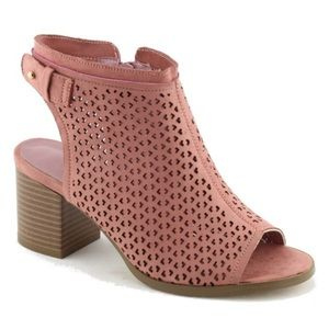 Shoes - New BELLA- SO COMFY Blush Pink Peep Toe Booties